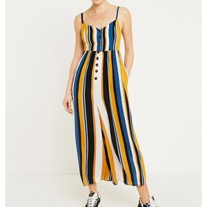 NWT Striped Jumpsuit